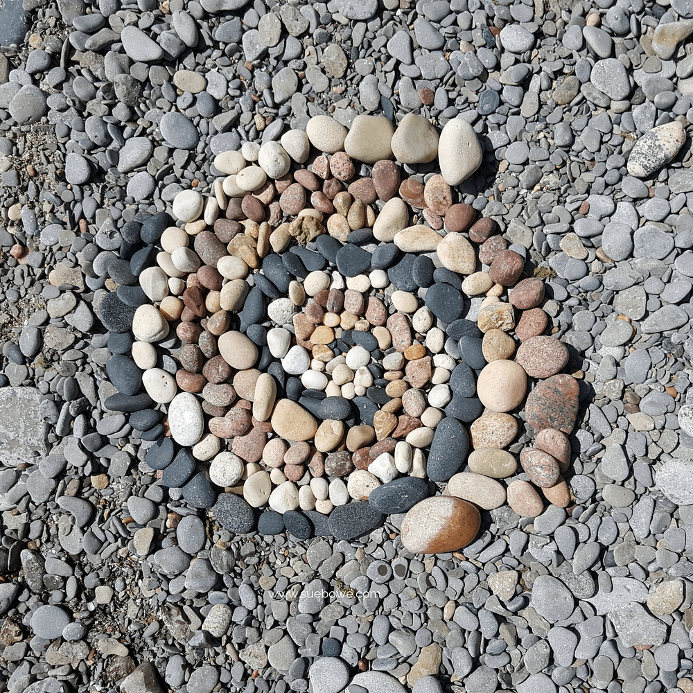 spiral of stones representing personal growth